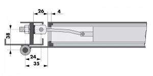 010404 Aufzug Rohrtürschliesser ATS-KO Montage