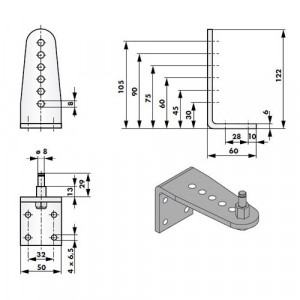 Ferme-portes DIREKT Accessoires de montage