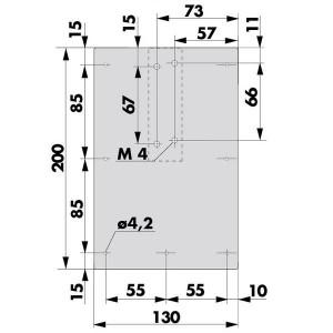 Plaque de montage V 1600 F - 205212