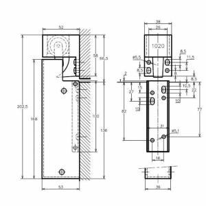 Amortisseur de porte VS 2000 Montage vertical