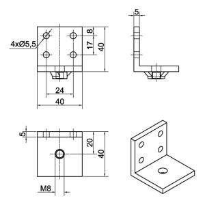 Ferme-porte DIREKT Dimensions Accesssoire 205274