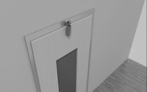 Amortisseur de porte V 1600 3D Porte à recouvrement