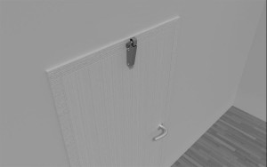 Amortisseur de porte V 1600 3D portes en feuillure