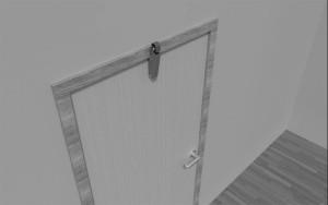 Amortisseur de porte V 1600 3D Porte en retrait