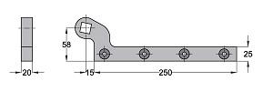 Ferme-porte au sol Dimensions Accessoire 460086-600