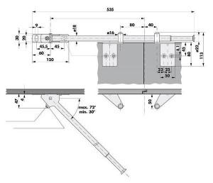 Door sequence selector SR 90 - dimensions