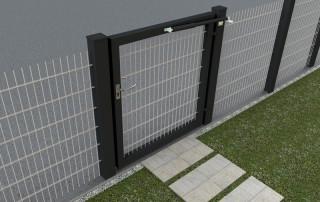 Ferme-porte DIREKT sur portail du jardin - anthracite