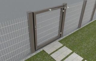 Ferme-porte DIREKT gris