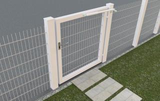 Ferme-porte DIREKT sur portail du jardin - blanc