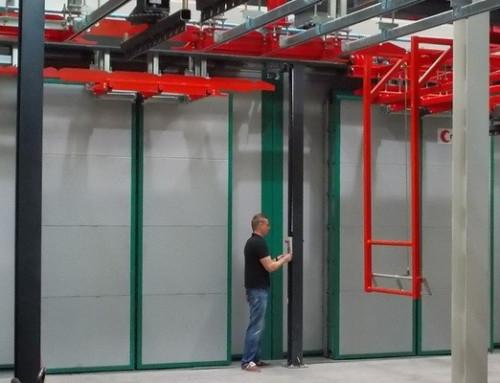 Système de motorisation modulaire contrôle portes doubles de fours de séchage