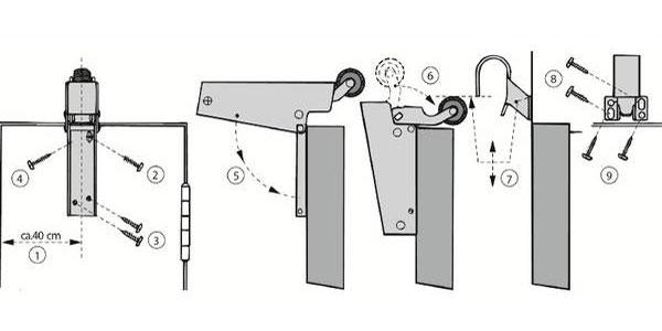 Montage Amortisseur de porte V 1600