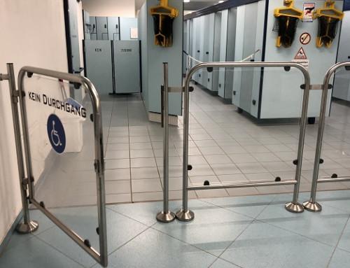 Ferme-porte tubulaire indispensable comme ferme-porte pour des portes d'accès en tube rond