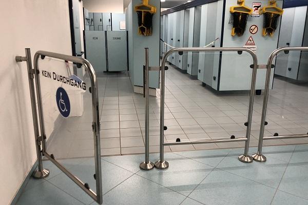 Ferme-portes encastré RTS dans portail d'accès