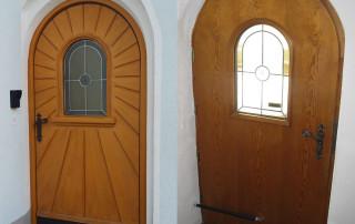 Ferme-porte DIREKT sur porte cintrée