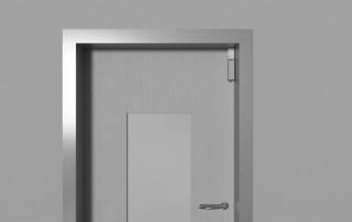 Amortisseur de porte R 1400 installé à la vertical