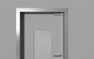 Amortisseur de porte R 1400 installé à l'horizontal