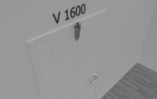 Amortisseur de porte V 1600 3D porte en feuillure