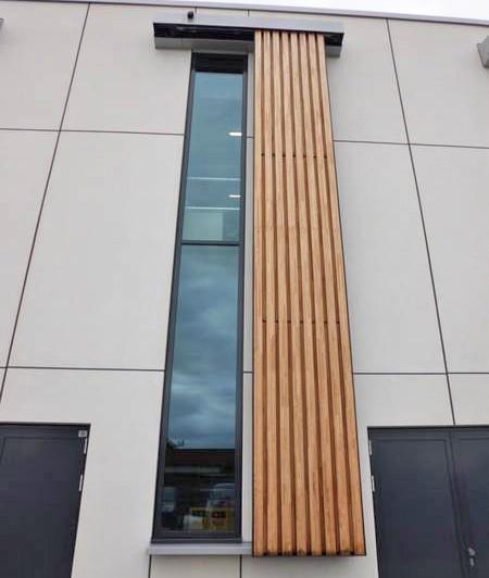 Door operator on window covers